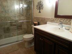 New Bathroom With Home Depot S Sandy Beach Tiles Beaches Master Bath