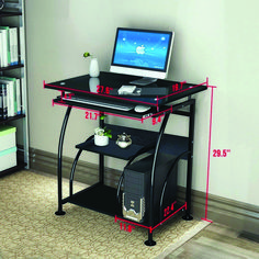 Home Office Computer Desk Workstation Furniture Integrated Stalinite PC Table