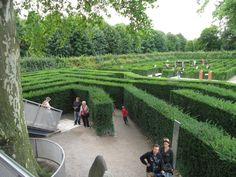 Inside One of Schoenbrunn (Austria) Mazes, another can be seen in the background.