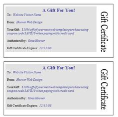 Holiday Gift Certificates Christmas Spirit Design  Per Page