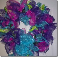 Bright and Fun Mesh Wreath