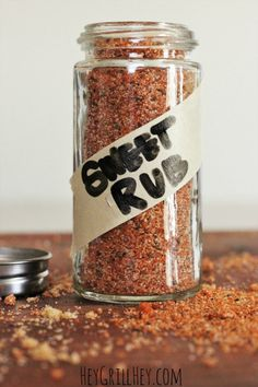 The BEST Sweet Rub for Grilled Pork and Chicken Homemade Sweet Rub. Amazing on grilled chicken, pork, shrimp, etc. Homemade Spices, Homemade Seasonings, Homemade Sweets, Homemade Bbq, Spice Blends, Spice Mixes, Grilling Recipes, Pork Recipes, Smoker Recipes