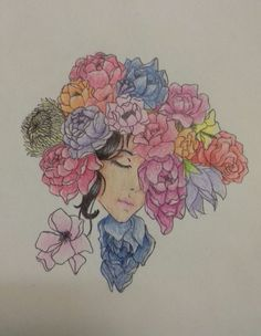 So I drew this for my classmate as a Secret Santa present. It's really small IRL, maybe four or five centimetres wide and a tiny bit longer? Anyway, it's done with colored pencils and black pen. Photo taken with my phone.