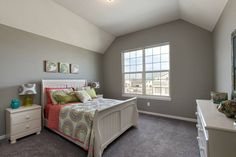 Bedroom in the Bayfield floor plan from Kansas City new home builder Summit Custom Homes.