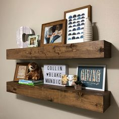 """345 mentions J'aime, 13 commentaires - Jon Mandich (@mandichmade) sur Instagram: """"I dig the @minwax special walnut stain on these quick and easy floating shelves for my sons room.…"""""""