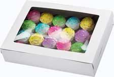 14 x 19 x 4 in. Cake or Cupcake  Boxes - by Wilton. I love window boxes for displaying and serving baked good at a potluck! :)