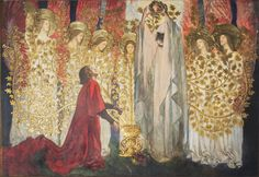 Edwin Austin Abbey, The Quest and Achievement of the Holy Grail, 15 : The Golden Tree, mural at the Boston Public Library
