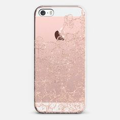 Modern rose gold floral lace illustration by Girly Trend - Classic Snap Hülle