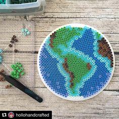 Happy Earth Day everyone! #perlerart #perlerbeads #perlerbrand #pixelart #pixelartist #earth #planet #earthday
