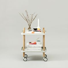 Peggy Cart Table in White//