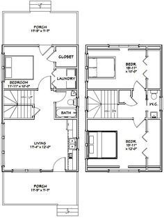 18x30 Tiny House    #18X30H7I    999 Sq Ft   Excellent Floor Plans