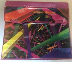 Vintage Mead Trapper Keeper - Designer Series - Pink W/ Neon Bars or Tubes #Mead