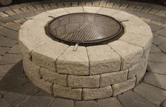 Stone Oasis Circle Firepit in Desert Buff