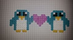 Hamabeads pinguines love