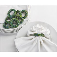 DII Beaded Napkin Rings - Set of 8