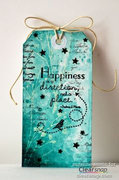 Suzanne shares a fun and simple mixed media tag featuring Izink acrylic based pigment inks by Aladine.  If you prefer mixed-media art, card making, scrapbooking, or crafts in general, you will want this powerful little bottle of happiness in your creative hands!!  Aladine's Izink acrylic based pigment inks are permanent and have the flexibility to please any type of crafter!