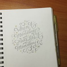 Scribe By Night Calligraphy — jonnywowlettering:   You know the feeling 😧...