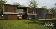 Жилой дом в поселке Лосиноостровские усадьбы (Подмосковье). #architecture #2floors_6m #housing #minimalism #300_500m2 #facade_wood #frame_ironconcrete #cottage #mansion