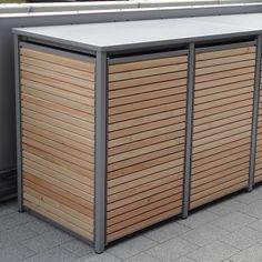 2er Mülltonnenbox Alu Lärche