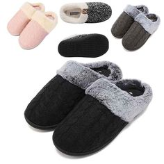 bd3fcebaf Unisex Couple Fur Lined Slippers Winter Indoor Warm Hosehold Thick Cotton  Shoes #fashion #clothing
