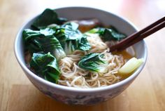 Ten minute lunch: my imitation of PhoBoil egg noodles. In separate pot, boil beef broth. Chop bak choy and add to broth. Chop eggs boiled in tea, chop beef tendons, Throw in bowl. Place noodles in bowl. Add broth and bak choy. Squeeze the juice of half a lemon into bowl. Add a few drops of soy sauce, sesame oil, fish sauce, and sriracha. Stir contents. Devour.Took about 9 minutes to make and 1 minute to inhale.