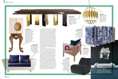 Empire Dining Table and Heritage Sideboard by Boca do Lobo on DAPPER USA Magazine | March 2016  http://www.bocadolobo.com/ #bocadolobo #luxuryfurniture
