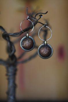 Nepal coin Earrings ~ So Beautiful by Lisa Jean Jewelry