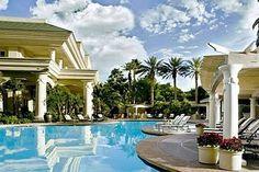 Four Seasons Hotel Las Vegas Pool - Sarah and Samirs weddings.