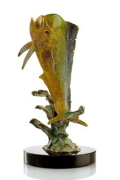Little Bully Mahi Mahi Bronze Sports Fishing Sculpture 80085 - Realistic bronze sealife Mahi Mahi sculpture with a colorful single Mahi Mahi Sports fish. Mahi Fish, Mahi Mahi, Trophy Fish, Greek Warrior, Fishing Tournaments, Brass Statues, Fish Sculpture, Fish Swimming, Sport Fishing