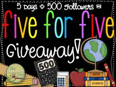 The Learning Tree: 500 Follower Giveaway- Day #4