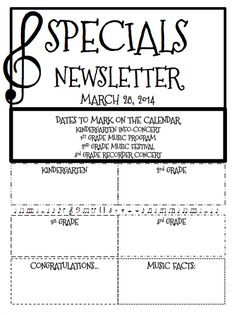 A blog post with a free (editable) music newsletter template.