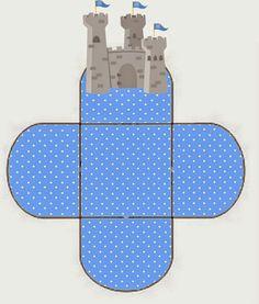 Caja abierta con castillo
