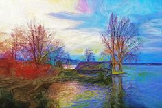 Winterimpressionen 2 Painting, Art, Art Background, Painting Art, Kunst, Paintings, Performing Arts, Painted Canvas, Drawings