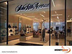 MONEYBACK MEXICO. Shop in SAKS FIFTH AVENUE in Plaza Carso or Centro Santa Fe in Mexico City, and get a tax refund with Moneyback! They have the best brands in the world with exclusive fashion products! #moneyback www.moneyback.mx