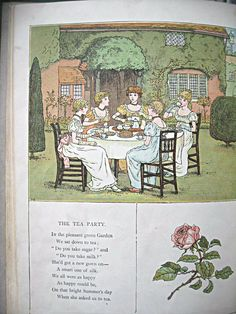 Antique Kate Greenaway book Marigold Garden by LittleBeachDesigns