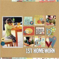 1st Homework by Kathie Link #scrapbook