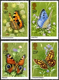 Butterflies stamps issued 13 May – Aglais urticae, – Maculinea arion, – Inachis io, – Carterocephalus palaemon. Royal Mail Stamps, Uk Stamps, Postage Stamp Art, Jewel Colors, British Wildlife, Buy Prints, Stamp Collecting, Beautiful Butterflies, Flower Stamp