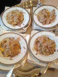 Matrimonio presso abitazione privata, pasta fresca con tartufo bianco