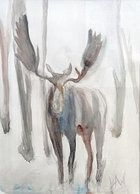 Moose - Watercolor
