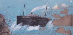 the alba painted on the 31st january anniversary of the shipwreck  mixed media on canvas 30 x 60 cm .jpeg