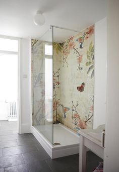 Lovely shower mosaic