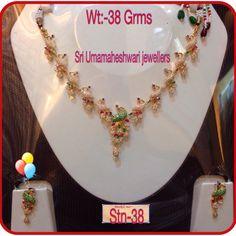 Gold Wedding Jewelry, Gold Jewelry, Jewellery, Ruby Necklace Designs, Jewels, Birthday, Birthdays, Jewerly, Gold Jewellery