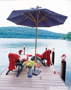 A private dock is the ultimate lake cottage accessory. It's a place for dozing, diving, and daydreaming See more of this classic Connecticut cottage »   - HouseBeautiful.com
