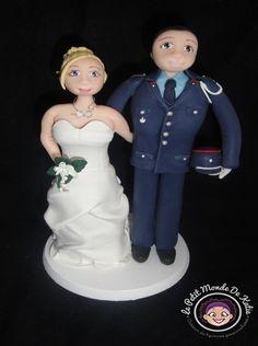 Figurine mariés en uniforme #caketopperenuniforme