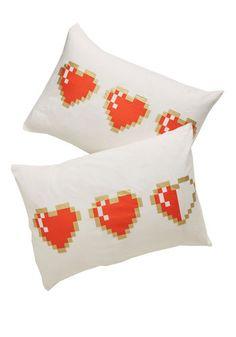 #Zelda Heart Container Pillows