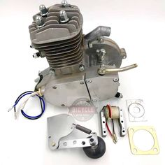 by Runwell, with Performance Upgrades Bicycle Engine Kit, Motorized Bicycle, Motor Works, Flying Monkey, Performance Parts, Engineering, Cleaning, Cars, Motorbikes