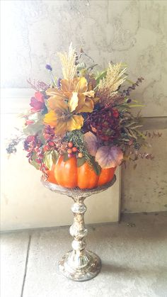80 best silk flower arrangements images on pinterest silk floral pumpkin arrangement mightylinksfo