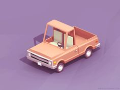 Pickup anim designed by Csaba Gyulai. Connect with them on Dribbble; Blender 3d, Zbrush Character, Character Art, Low Poly Car, Cartoon Trees, Isometric Art, Modelos 3d, Ad Design, Graphic Design