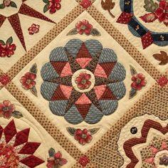 Di Ford Primitive Quilts, Antique Quilts, Circle Quilts, Quilt Blocks, Applique Patterns, Quilt Patterns, Quilting Projects, Quilting Designs, Barn Quilts