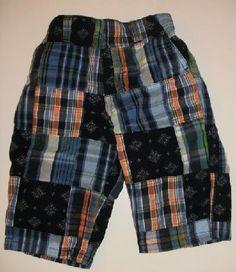 Baby Gap Madras Plaid Orange Blue Green Pants Boys sz 6 12m Free Shipping
